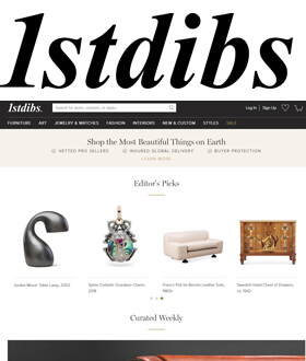 1stdibs - Founded in 2001 to bring the Paris flea markets online this site is marketed as the leading online marketplace for collectors and sellers of beautiful things.