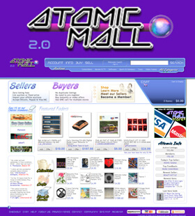 Atomic Mall is a multi-seller Marketplace venue where individuals can Buy, Sell, or Bid on virtually anything!