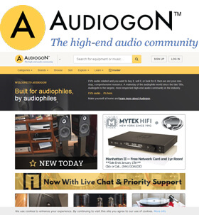 Audiogon features listings for almost everything that is electronic, speakers, tuners, sound cables, turn tables, and sound entertainment or home theater orientated items.