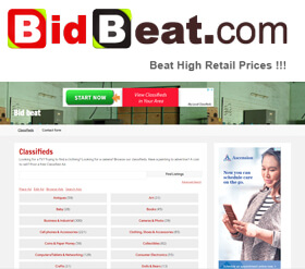 Bid Beat is not an auction site but more of an online classified site.