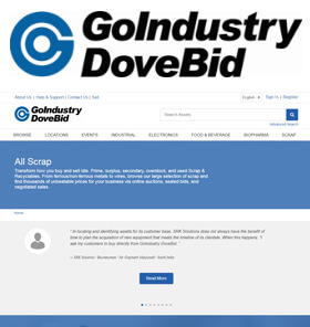 Go Industry Dove Bid - Transform how you buy and sell idle, prime, surplus, secondary, overstock, and used Scrap & Recyclables.