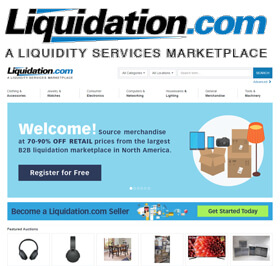 Liquidation.com is a Liquidity Services, Inc. marketplace where professional buyers can source commercial surplus inventory and government surplus assets in an online environment.