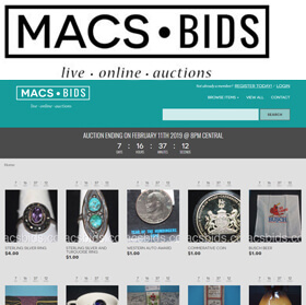 MACS BIDS is a family owned and operated online auction business located in the greater Kansas City metropolitan area.