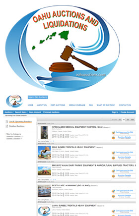 Oahu Auctions & Liquidations is licensed, insured and bonded.
