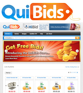 QuiBids Online Auctions