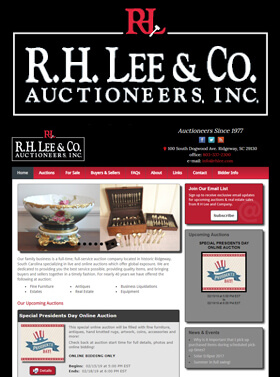 R. H. Lee & Co., Auctioneers Inc. has been in business since 1977