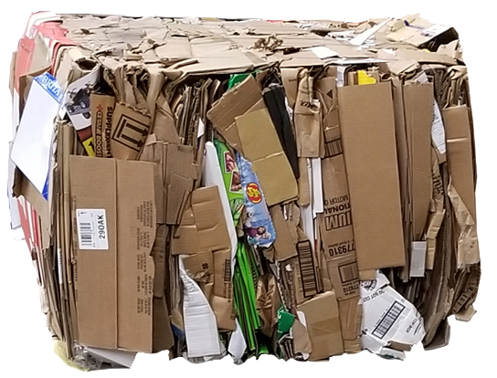 Crushed Recycled Corrugated Boxes