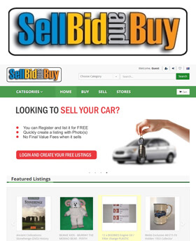 SellBidandBuy is the Premier low cost online auction for the sale of goods and services by a diverse community of individuals and businesses.
