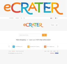 eCRATER.com is a free auction and ecommerce store creation service.