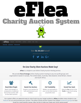 eFlea is a simple to use Online Charity Auction Hosting service.