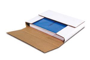 White Multi-Depth Corrugated Bookfolds