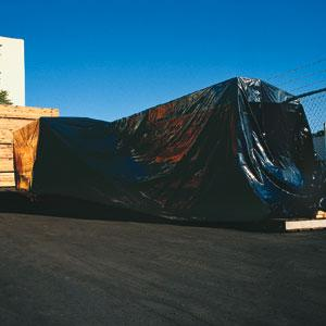 Heavy Duty Black Poly Sheeting, 4 MIL