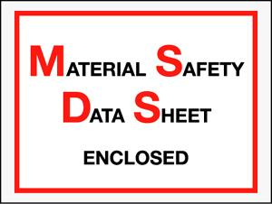 Military Spec. and MSDS Document Envelopes