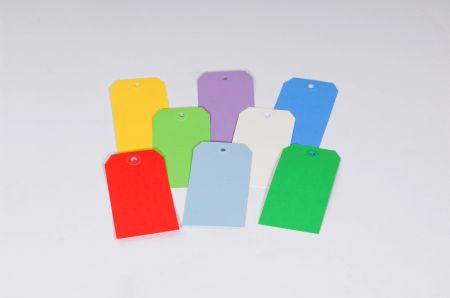 13 Point Plain Colored Tags - Individual Colors
