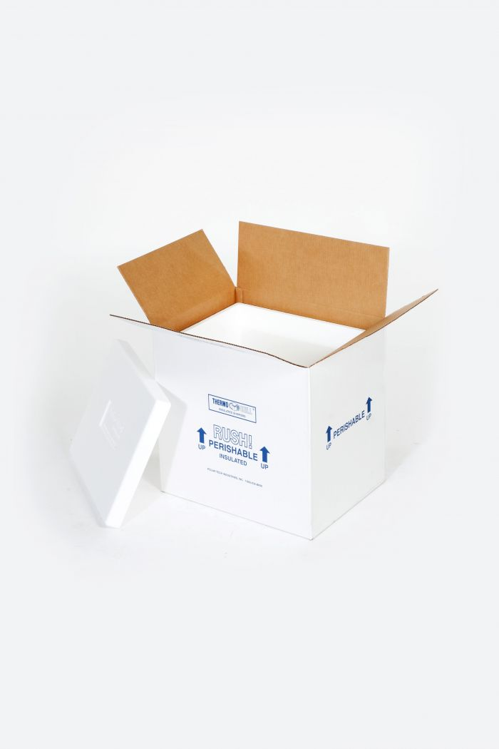 "12 x 10 x 7"" Insulated Shipper - 1 1/2"" Thickness"