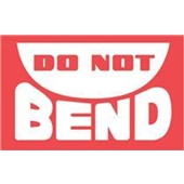 "#DL1400 3 x 5"" Do Not Bend Label"