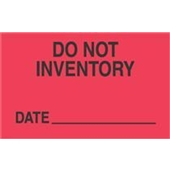 "#DL3421 3 x 5"" Do Not Inventory... Date _____ Label"