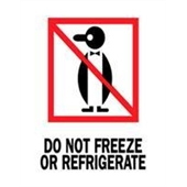 "#DL4040 3 x 4"" Do Not Freeze or Refrigerate (Penguin) Label"