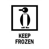 "#DL4260 3 x 4"" Keep Frozen (Penguin) Label"