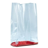 "12 x 8 x 20"" 1 1/2 Mil Gusseted Poly Bags (1000/Case)"