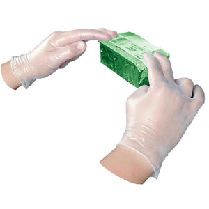 Clear Disposable Vinyl Powder-Free General Purpose Gloves - Medium (100/bx)