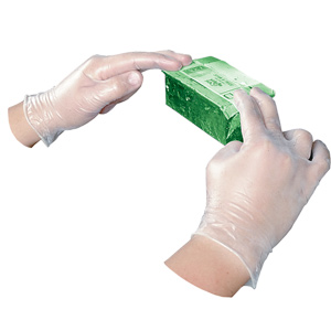 Clear Disposable Vinyl Powder-Free General Purpose Gloves - Large (100/bx)