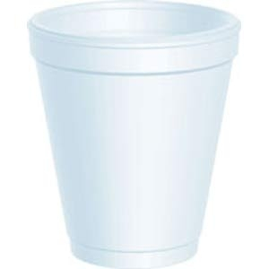 Dart® 8 oz White Foam Cups (1000/cs) (MFG# 8J8)
