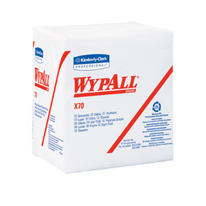 WypAll® X70 White Wipers in a Box - 76 wipers/box (12 boxes/case) (MFG# 41200)