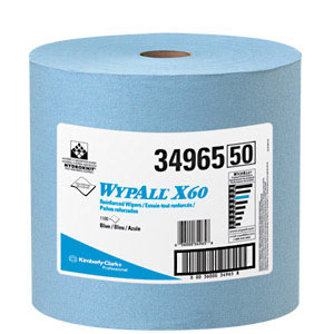 WypAll® X60 Blue Wipers on a Roll (1100 feet/roll) (MFG# 34965)