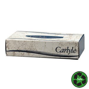 Carlyle® Facial Tissue Flat Box - 100 Tissues/Box (30 boxes/cs)