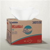WypAll® X60 White Wipers in a Box - 180 wipers/box  (MFG# 34015)