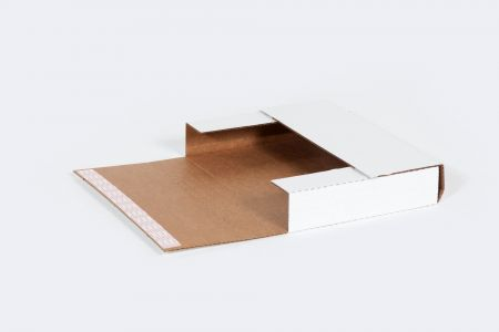"12 1/8 x 9 1/8 x 2"" Self-Seal Corrugated Bookfold"