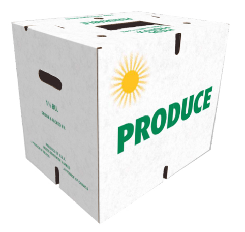 "15 7/16 x 11 9/16 x 13 15/16  40 ECT PRINTED ""PRODUCE"" 15 bdl./ 240 bale"