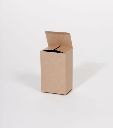 "2 1/2 x 1 3/4 x 4"" Kraft Reverse Tuck Folding Carton (500/case)"