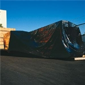 10' x 50` 4 Mil Heavy-Duty Black Poly Sheeting