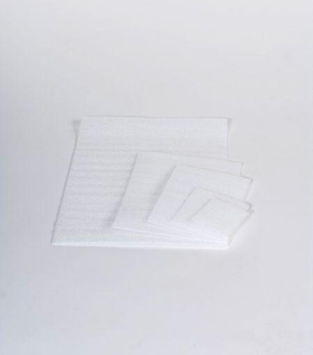 White Flush Cut Foam Pouches 500//Case 4 x 7