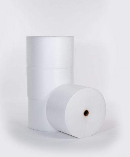 "FINAL SALE: 1/8"" 72"" x 550` Slit 18"" Foam (4 rolls/bundle)"