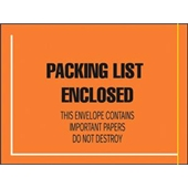 "FINAL SALE: 4 1/2 x 6"" Fluorescent Face Military Spec. Packing List Envelope (1000/Case)"