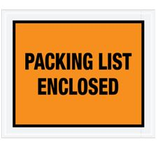 "7 x 5 1/2"" Full Face Packing List Envelope (1000/Case)"