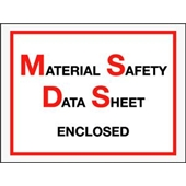 "FINAL SALE: 6 1/2 x 5"" Material Safety Data Sheet Enclosed Envelope (1000/Case)"