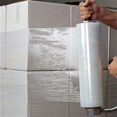 "FINAL SALE: 12"" x 1,500` 70 GA. Blown Hand Stretch Film (4/Case)"