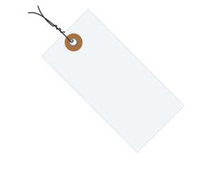 "#8 6 1/4"" x 3 1/8"" Tyvek® Shipping Tags - Pre-wired (1000/case)"