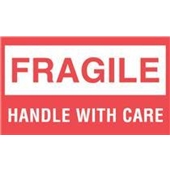 "#DL1070 3 x 5"" Fragile Handle with Care Label"