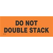 "#DL1122 2 x 6"" Do Not Double Stack (Orange/Black) Label"