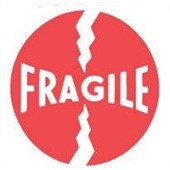 "#DL1140 4 x 4"" Fragile Label"
