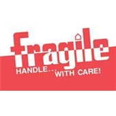 "#DL1160 3 x 5"" Fragile Handle with Care Label"