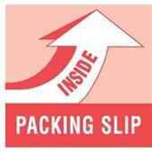 "#DL1180  4 x 4""  ""PACKING  SLIP INSIDE"" Label"