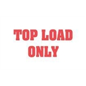 "#DL1370  3 x 5""  Top Load Only Label (Red/White)"