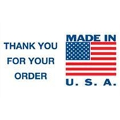 "#DL1630 3 x 5"" Made In USA Thank You for Your Order Label"