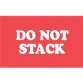"#DL1960 3 x 5"" Do Not Stack Label"